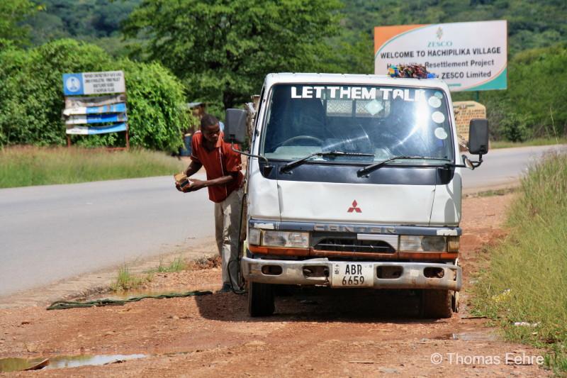 Minibus in Sambia