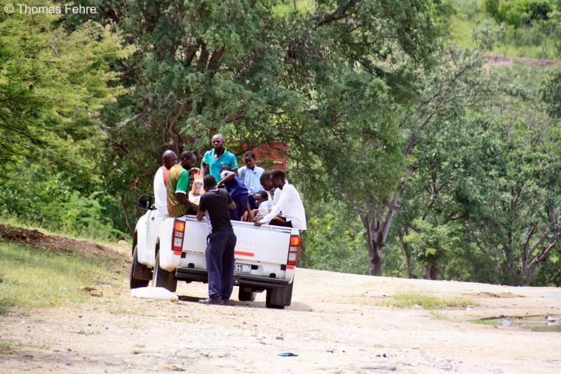Öffentliches Transportmittel in Siavonga, Sambia