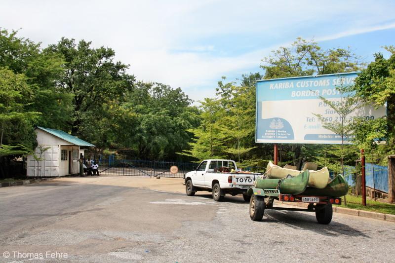 Grenzübergang am Kariba-Staudamm, Sambia