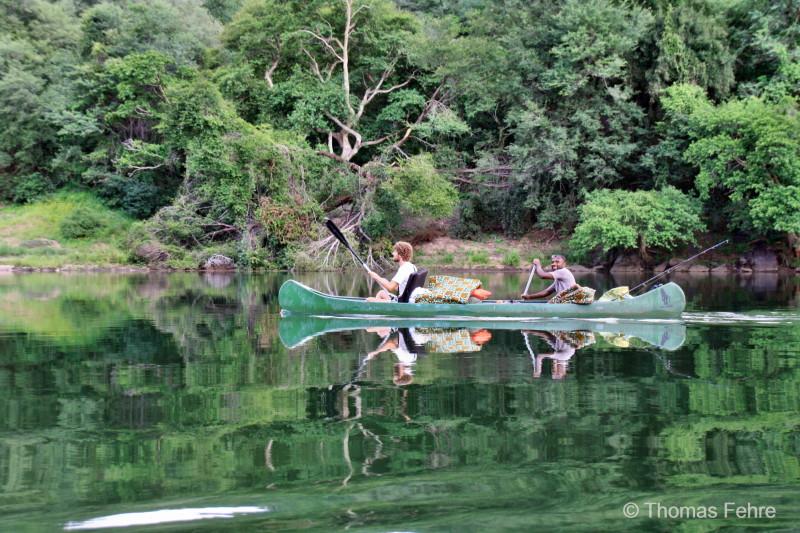 Kanutour im Zambezi-Tal, Sambia