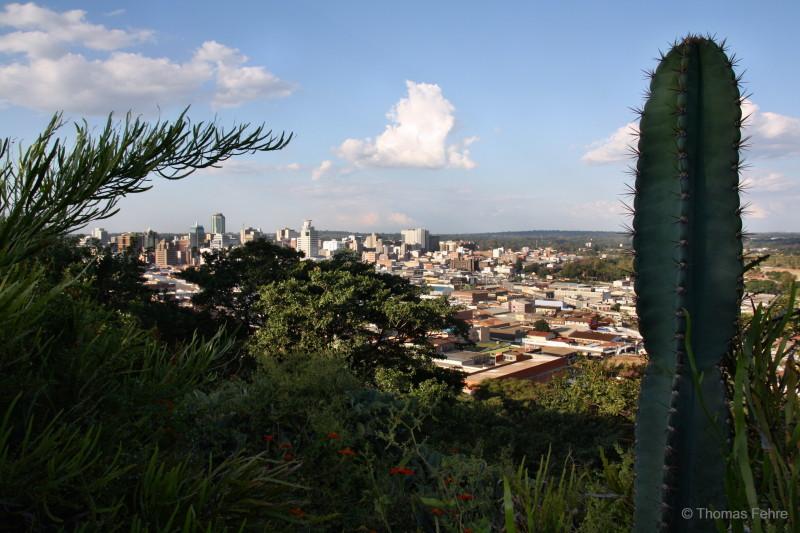 Ausblick vom Kopje auf Harare, Simbabwe