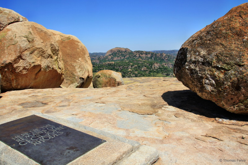 Cecil Rhodes Grabstätte am World View im Matobo Nationalpark, Simbabwe