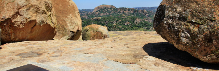 Cecil Rhodes Grabstätte am World View im Matobo Nationalpark, Simbabwe