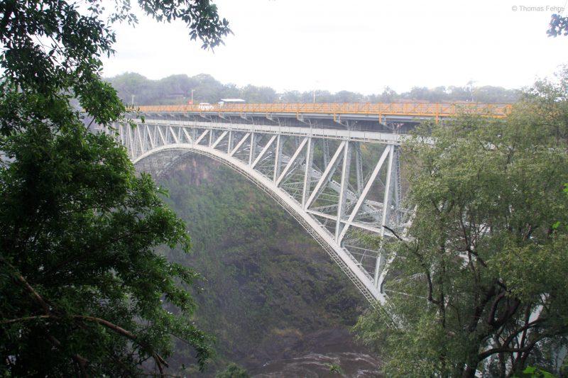 Victoria Falls Bridge, Blick von Simbabwe aus