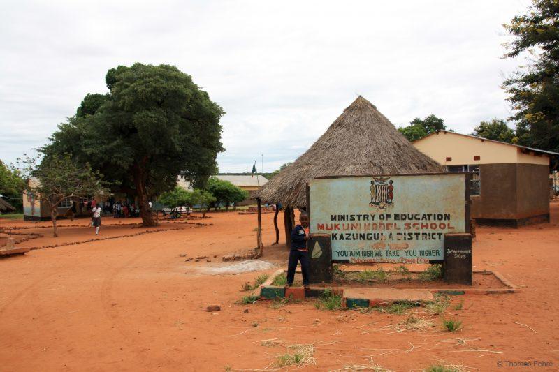 Schule in Mukuni, Sambia