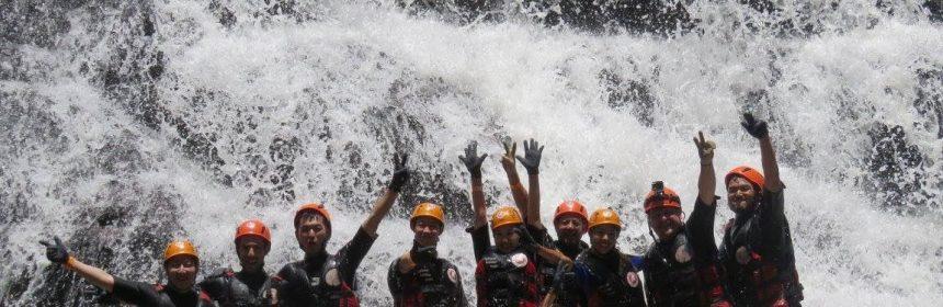 Canyoning, Datanla Wasserfälle in Dalat, Vietnam